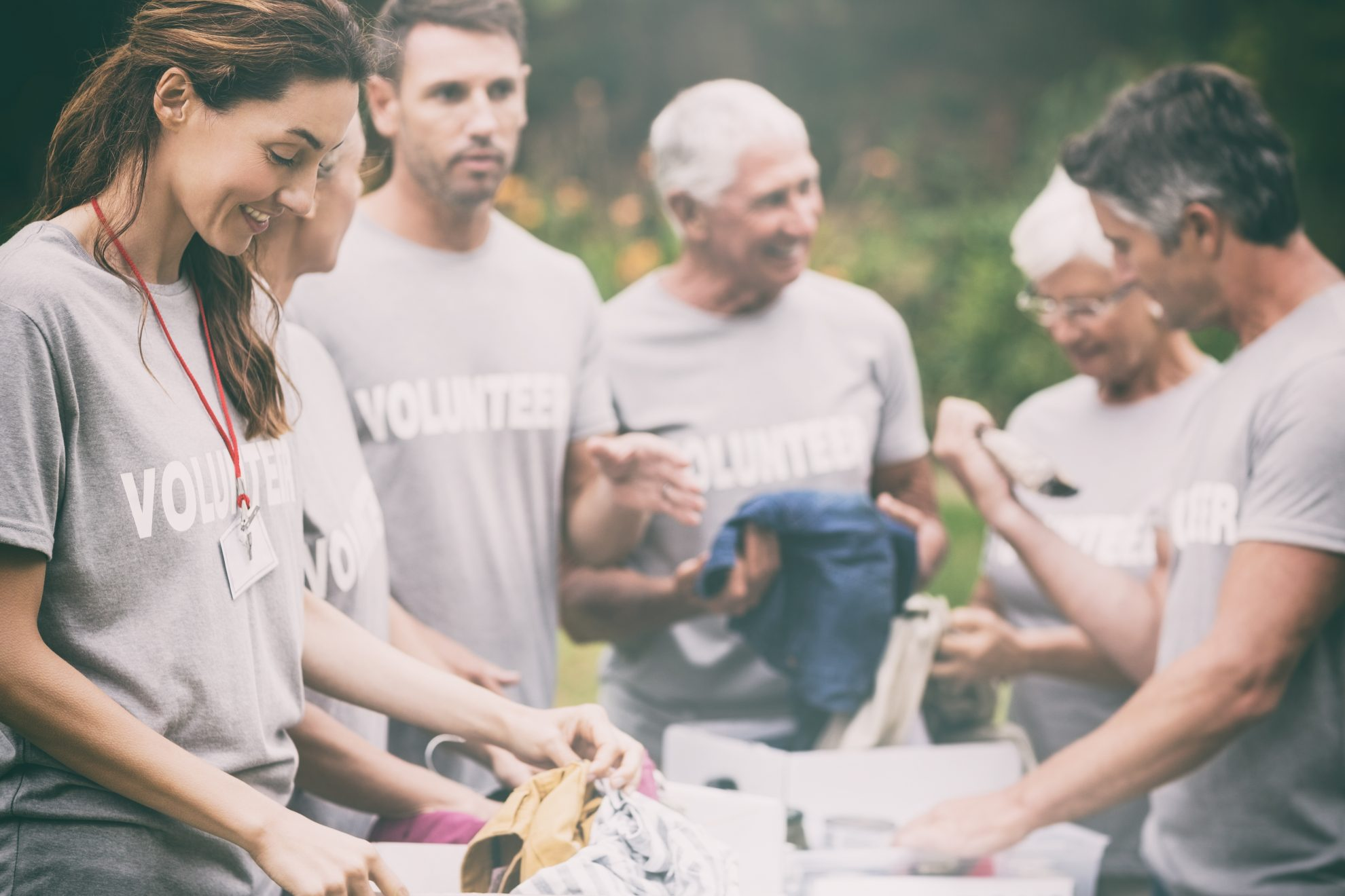 Photo of volunteers for a reputable charity organization that gives back- make a difference