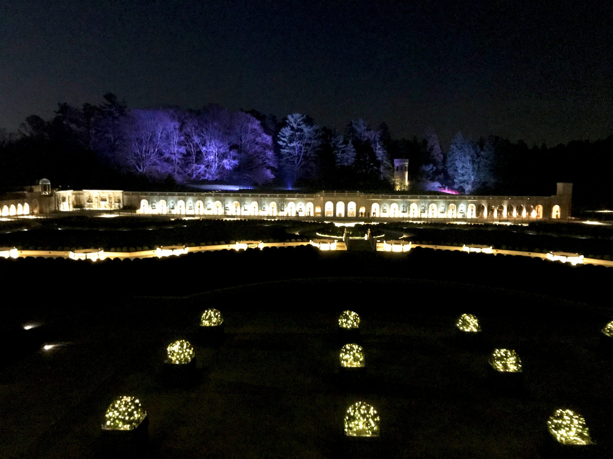 Spectacular lighted display at Longwood Gardens Holiday Lights