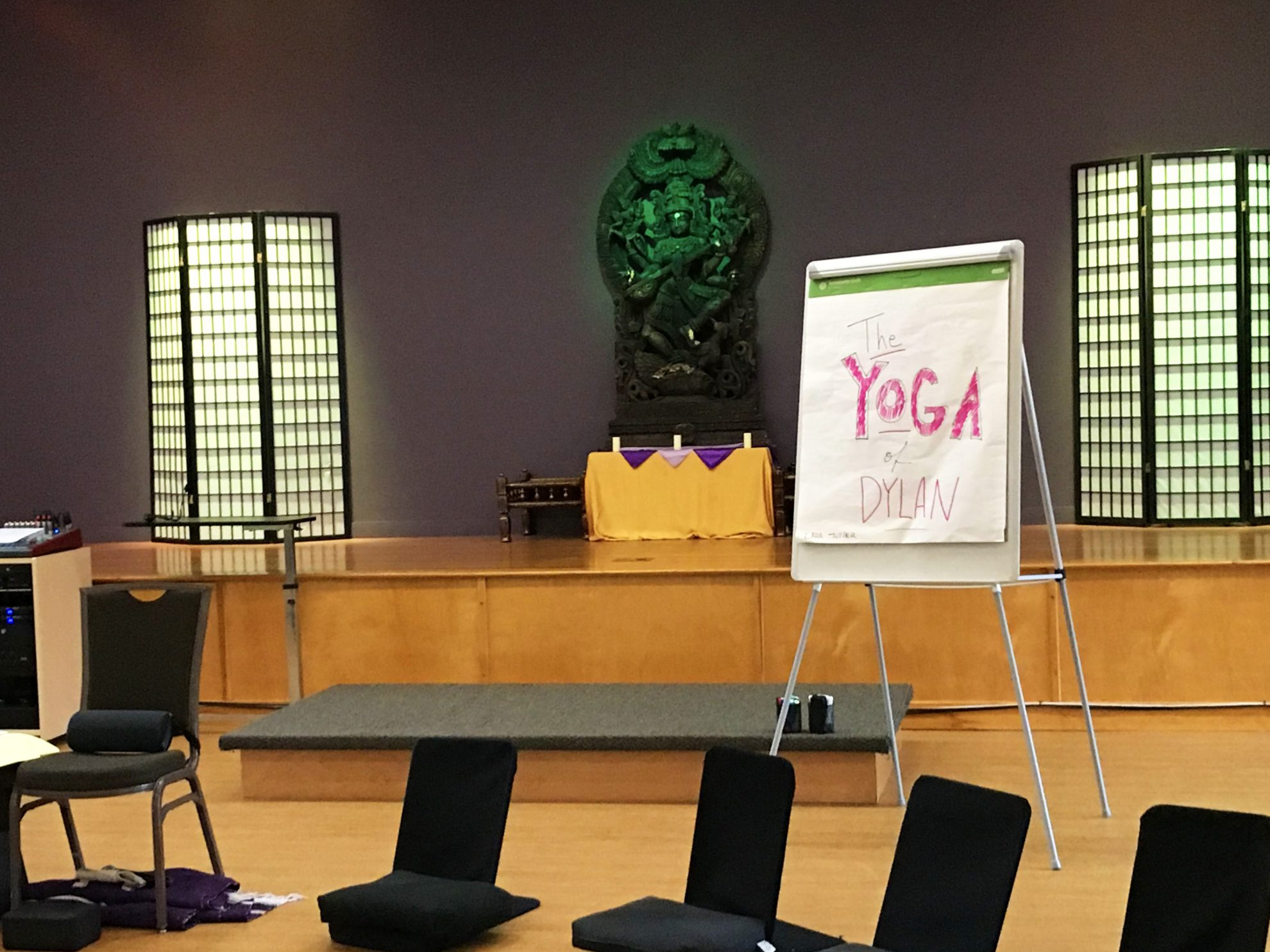 Photo from the Yoga of Dylan class that was offered as part of the Kripalu day pass at Kripalu Center for Yoga and Health