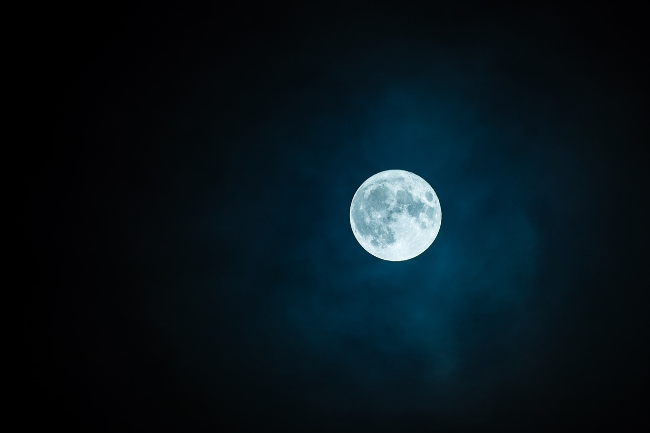 Moon in a dark sky, cure insomnia naturally and get better sleep tonight