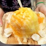 Delicious shaved ice is authentic Hawaiian food in Waikiki, also good for gluten-free dining in Waikiki