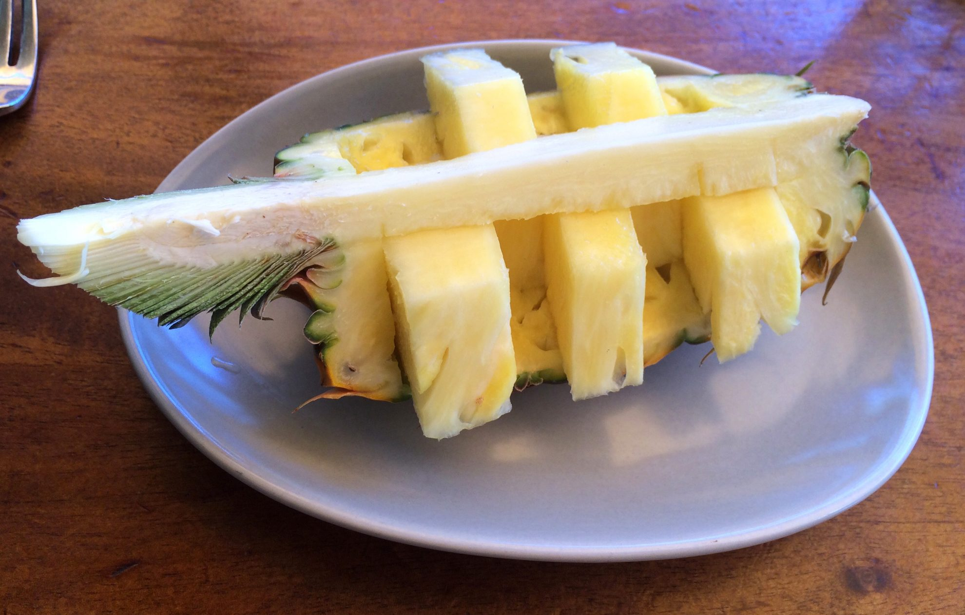 Pineapple from Hula Grill is one of the foods you must try in Waikiki