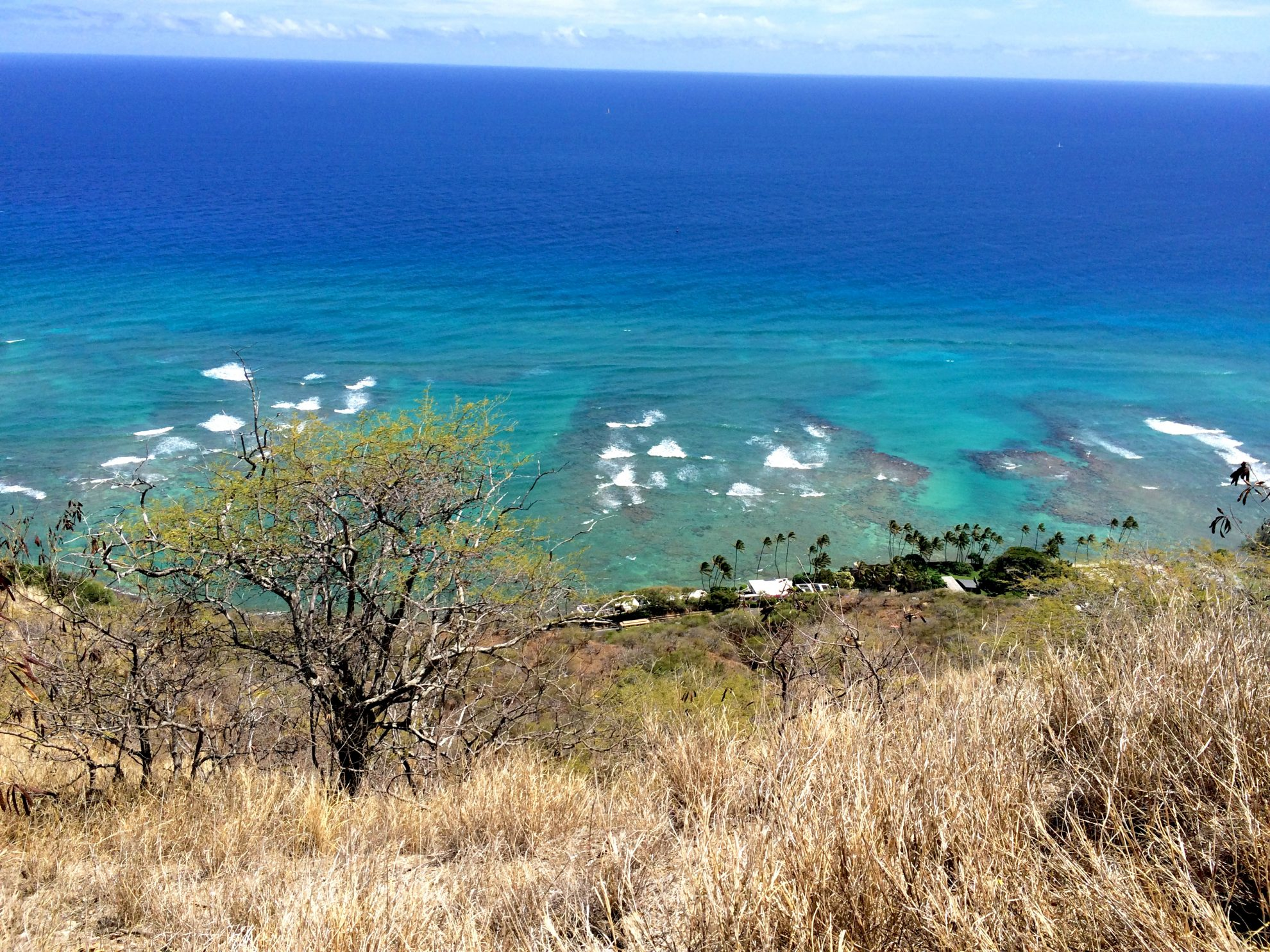 View from Diamond Head in Waikiki