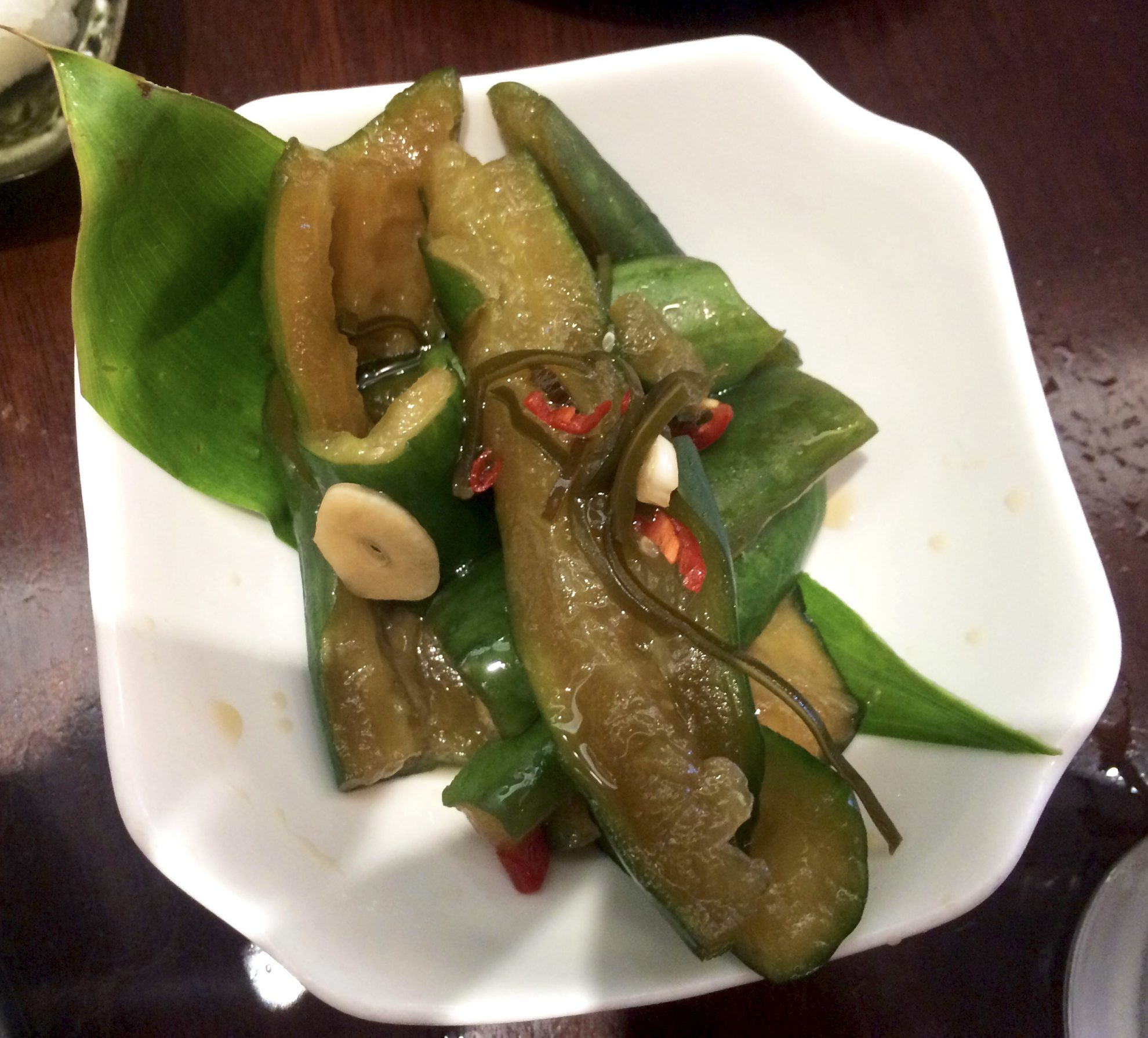 Cucumber salad is part of the foodie guide to Waikiki