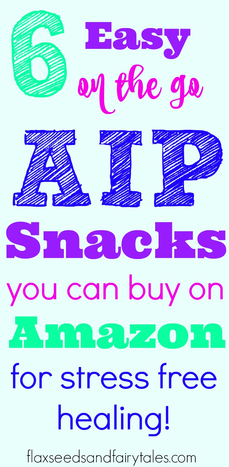 Looking for the best AIP snacks on the go? These easy store bought AIP snacks are available to buy on Amazon for stress free healing on the Autoimmune Protocol. #aipsnacks #aipdiet #aiptreats