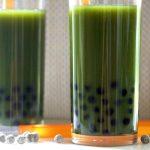 Green Juice Bubble Tea is a healthy bubble tea recipe