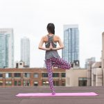 Woman on yoga mat is fitness inspiration