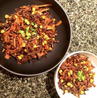 Gluten free and vegan stir-fried wild rice recipe