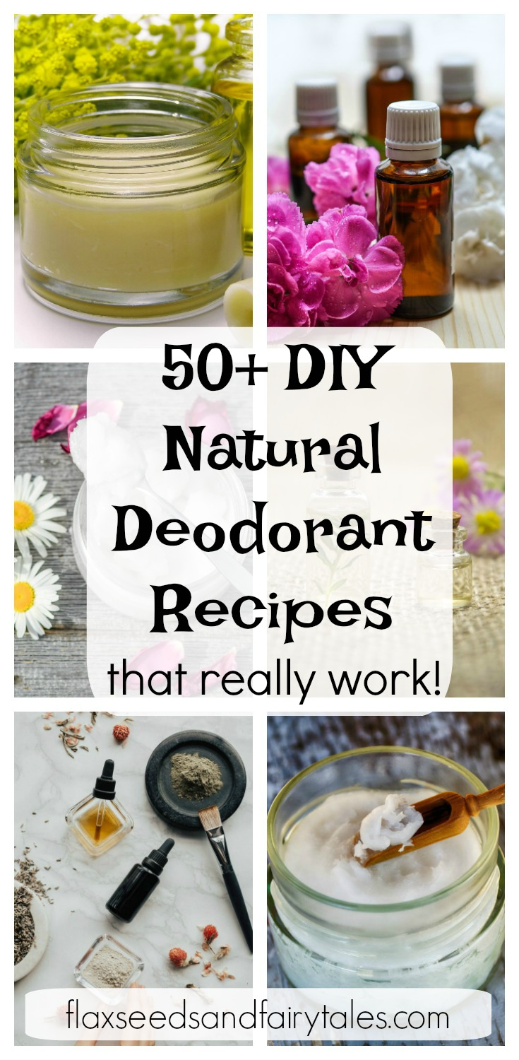 Looking for natural deodorant recipes that work? These 50+ homemade deodorant recipes are simple