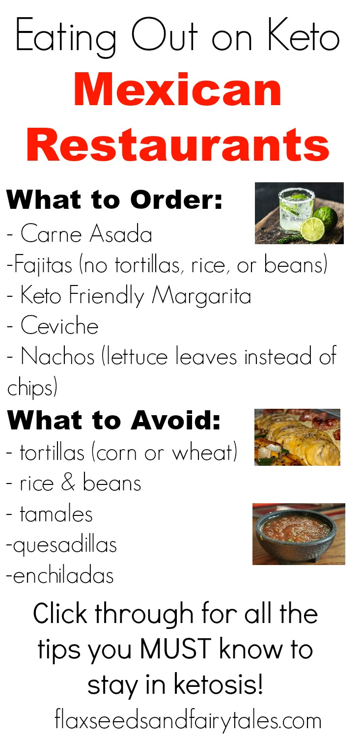 Learn what to order and what to avoid when eating out on keto at a Mexican restaurant. Find out all the best keto friendly Mexican options and the tips you need to stay in ketosis for weight loss.