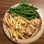 Allergy friendly salmon and fries at Columbia Harbour House in Magic Kingdom is a delicious gluten free quick service meal in Disney World