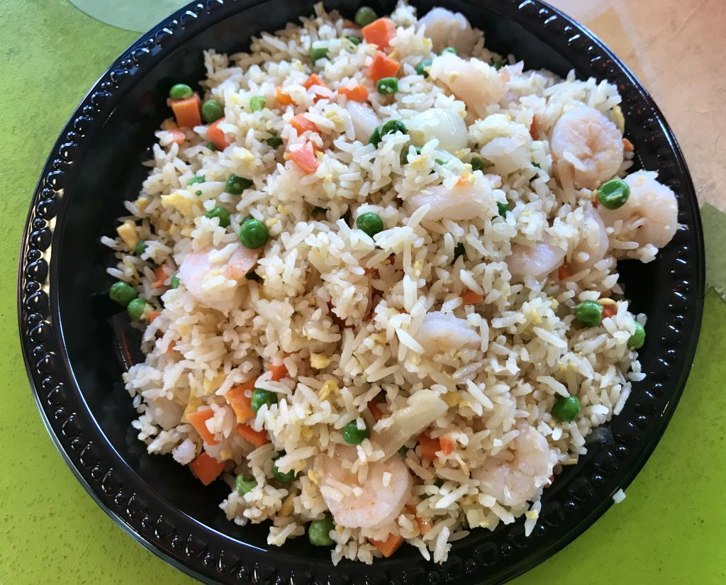 Delicious gluten free fried rice in the China Pavillion at the Epcot World Showcase. This is a tasty gluten free quick service option in Disney World that kids and adults will both love!