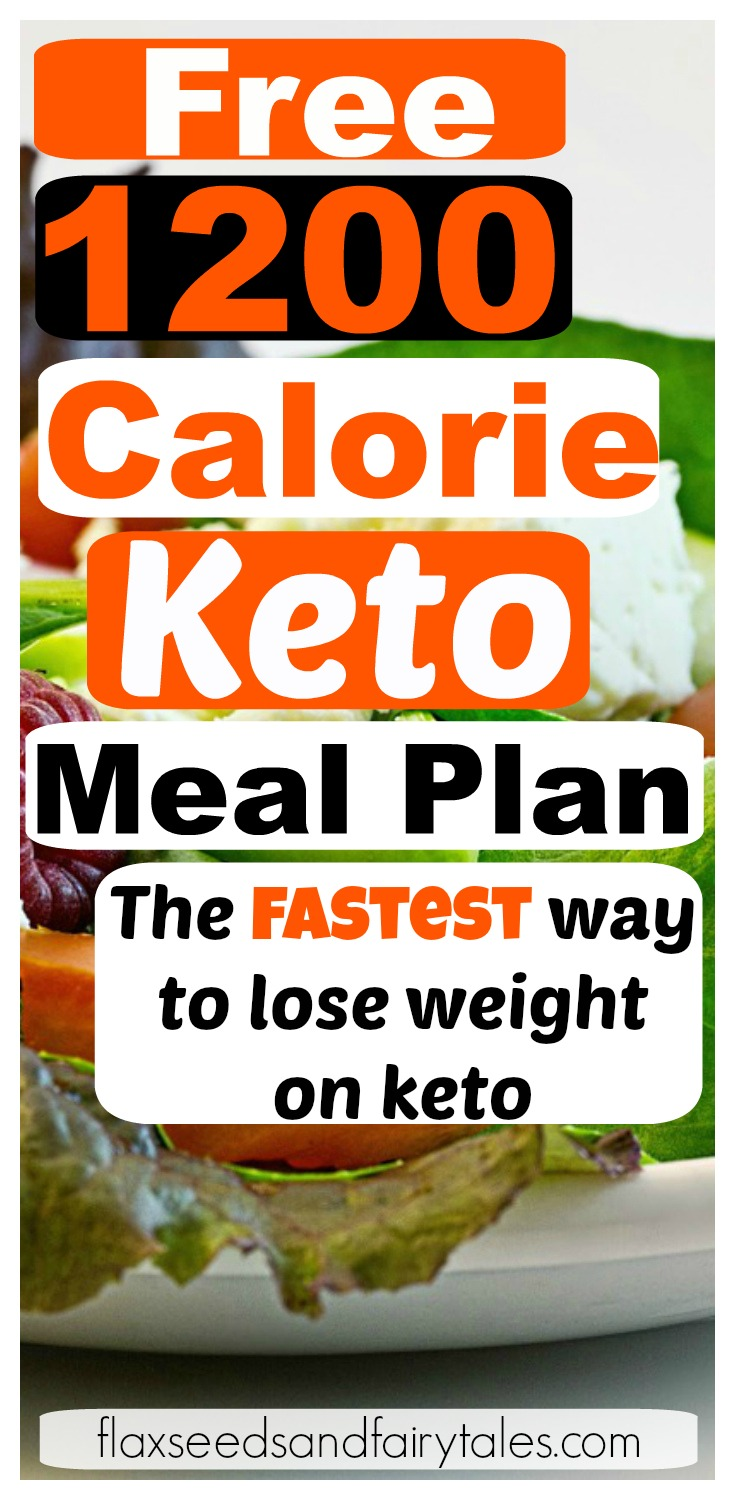 photo regarding Printable 1200 Calorie Meal Plan titled 1200 Calorie Keto Supper Application - Absolutely free 1 7 days System for Prompt