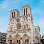 Notre Dame Cathedral in paris on a sunny day