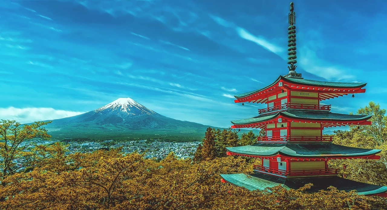 Mount Fuji in Japan is one of the most beautiful places in the world to visit