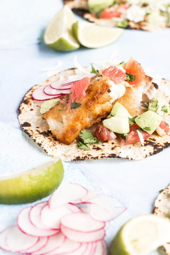 Easy AIP recipe for fish tacos