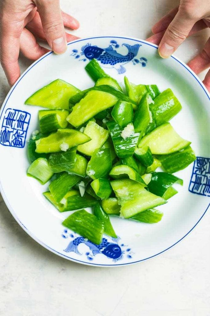 Easy AIP cucumber salad is a great vegetable side dish for the Autoimmune Protocol Diet