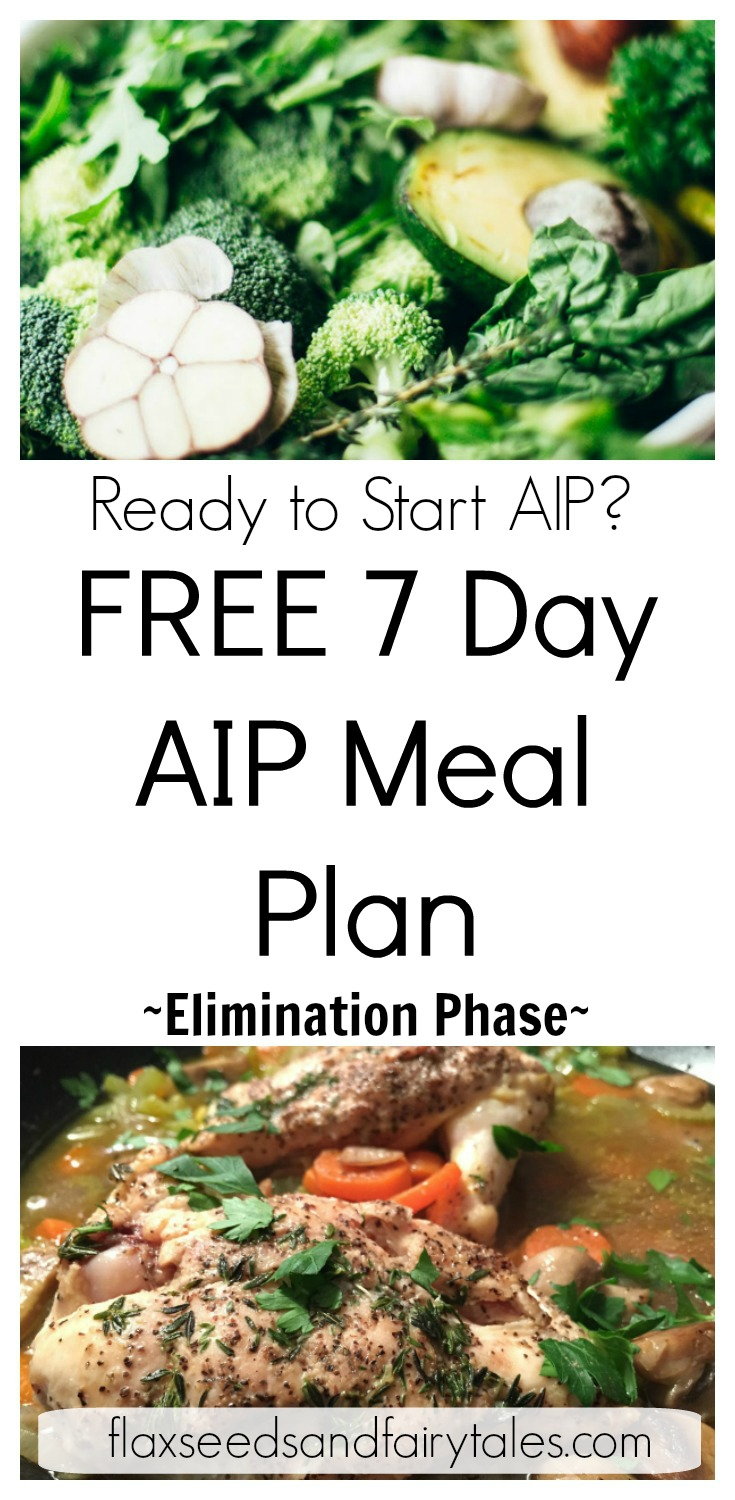 This easy meal plan helped me start the AIP diet on the right track! I never would have survived my first week on the AIP elimination phase without this awesome AIP diet menu. I love this AIP diet meal plan and am now going through it a second week! Best AIP menu plan ever! #aipdiet #autoimmunedisease #aip #aipdietmenu