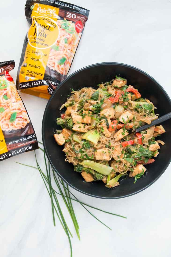 This low carb vegan stir fry is a high protein vegan keto recipe option
