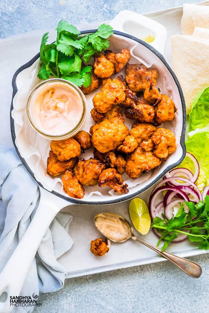 Easy air fryer vegan keto cauliflower recipe