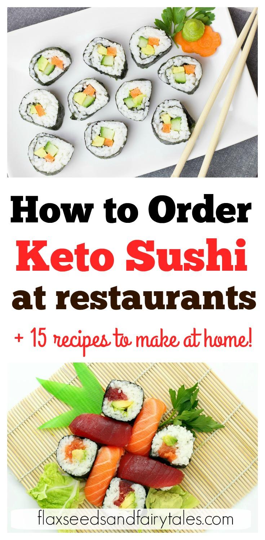 Keto sushi restaurants! Learn how to order keto sushi at restaurants and the best keto sushi options. Easy tips to order low carb keto sushi at any restaurant! #ketosushi